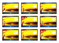 金色日出背景视频