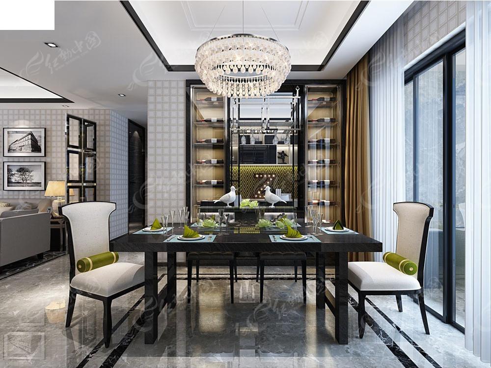 免费素材 3d素材 3d模型 室内设计 现代饭厅装修效果图  请您分享
