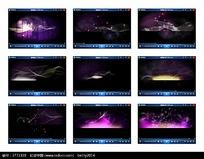 紫色舞台光效背景视频