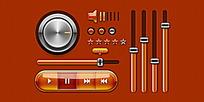 橙色系音乐手机APP界面