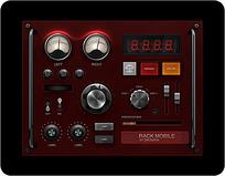 红色系手机APP界面