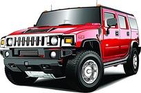 红色吉普车矢量素材