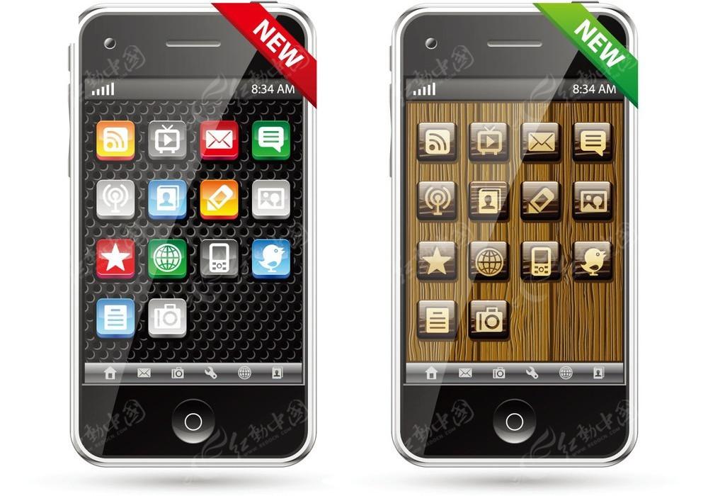 新款智能手机矢量素材