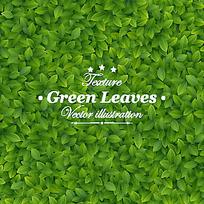 绿色叶子底纹矢量背景