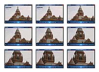 国外钟楼建筑视频