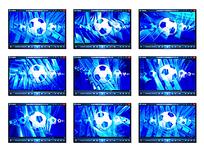 蓝色足球光效视频