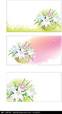 唯美鲜花边框背景素材
