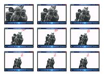 战争人物雕塑视频