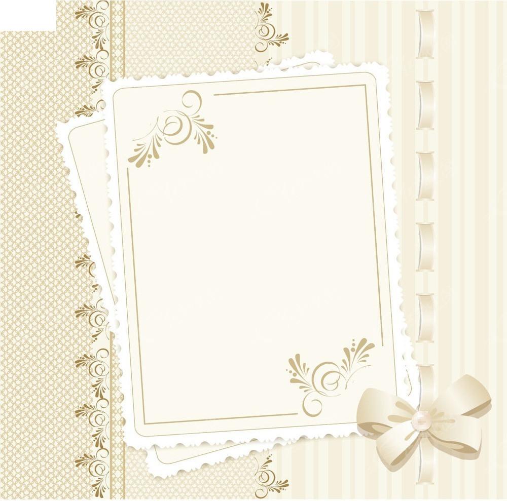 花纹蝴蝶结边框背景素材