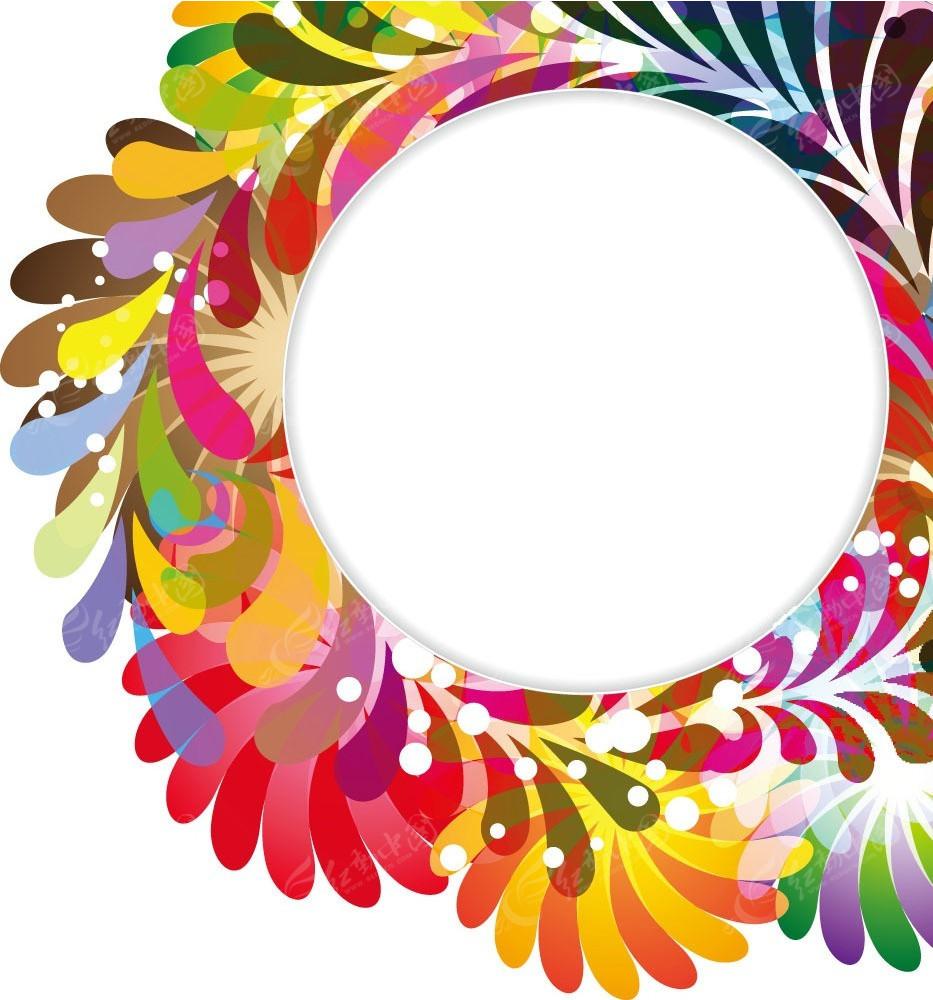 几何花纹圆点圆点矢量边框图片图片