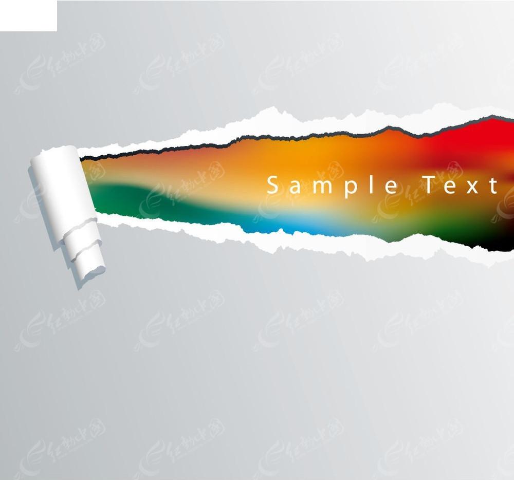 撕纸效果背景矢量图eps免费下载图片