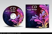 彩色花纹CD封面设计