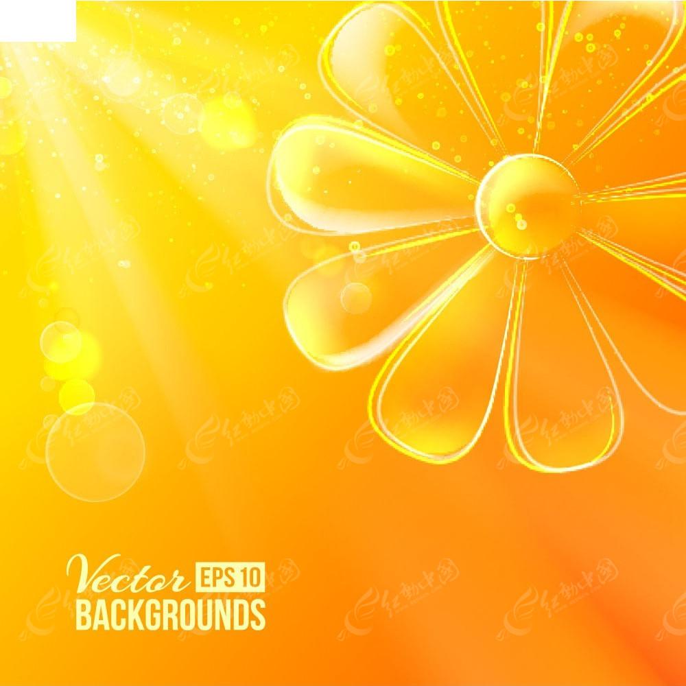 您当前访问素材主题是橙色手绘花朵矢量背景,编号是3931396,文件格式e