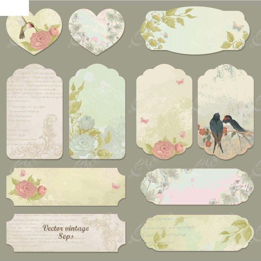 创意花纹卡片设计图片