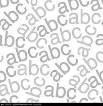 灰白abc字母矢量背景