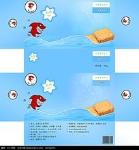 芝麻味饼干包装盒展开图设计