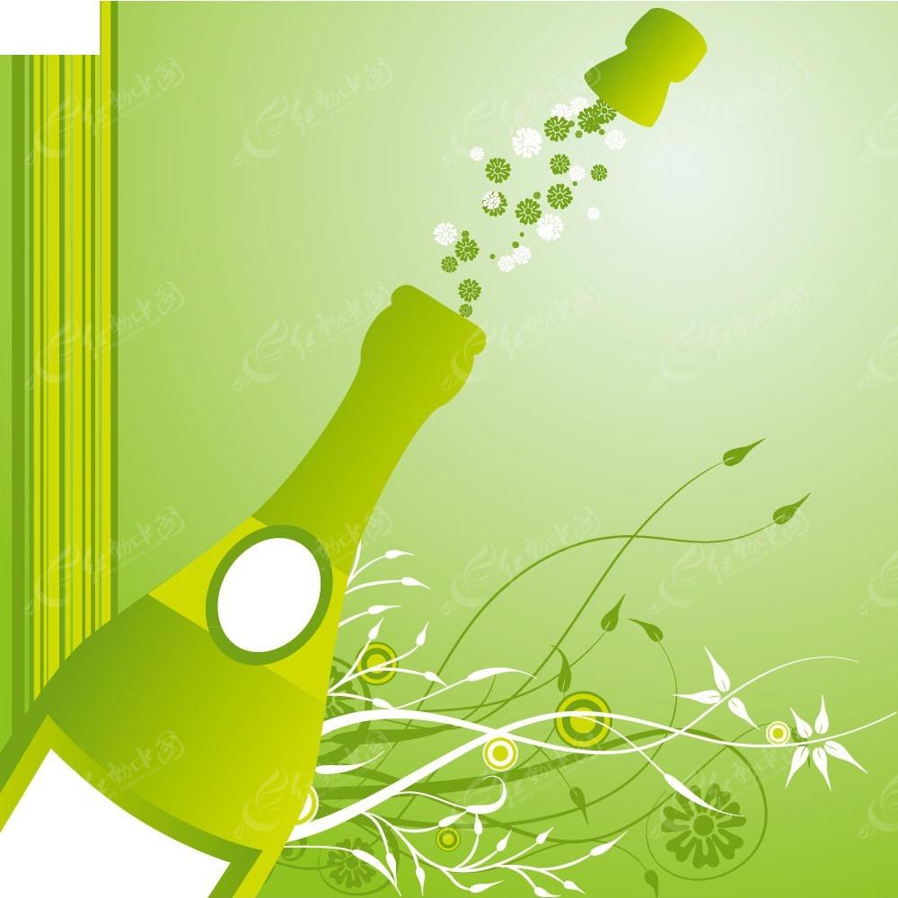 绿色藤蔓边框手绘