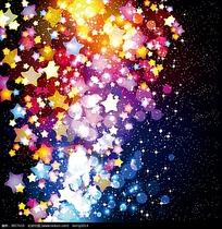 矢量五角星光影背景素材