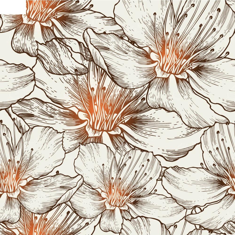 手绘线描花朵矢量背景EPS素材免费下载 编号3926300 红动网图片