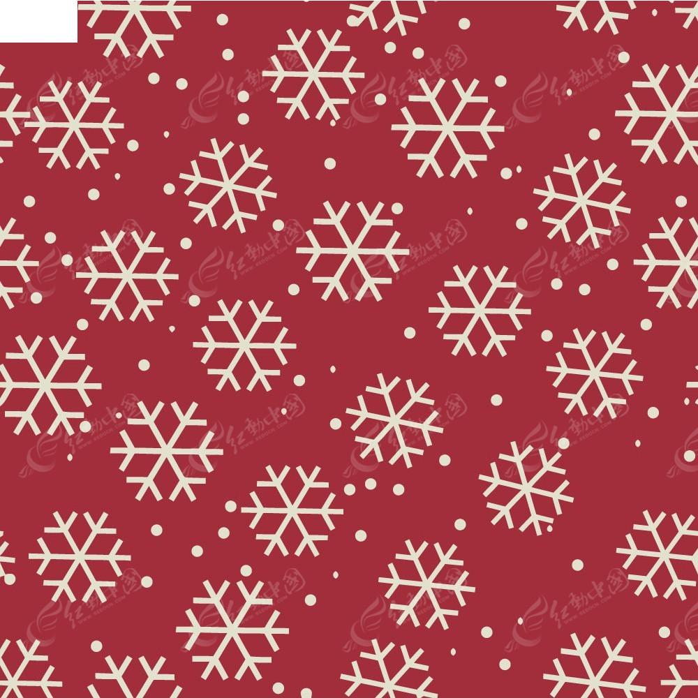 背景素材 底纹 花纹 手绘雪花 矢量素材 雪花 印花图案 红色背景