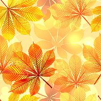 橙色枫叶矢量背景