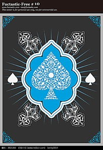 花纹边框扑克牌花纹矢量背景