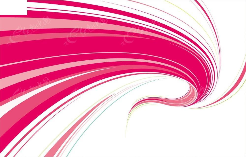 玫红色动感曲线矢量背景eps免费下载_底纹背景素材