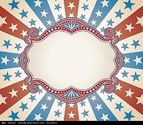 五角星花纹矢量边框背景
