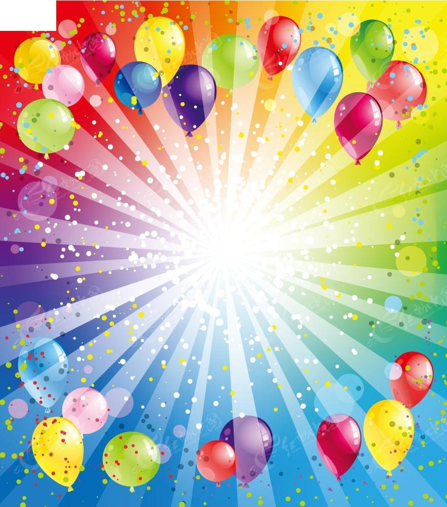喜庆节日气球矢量素材