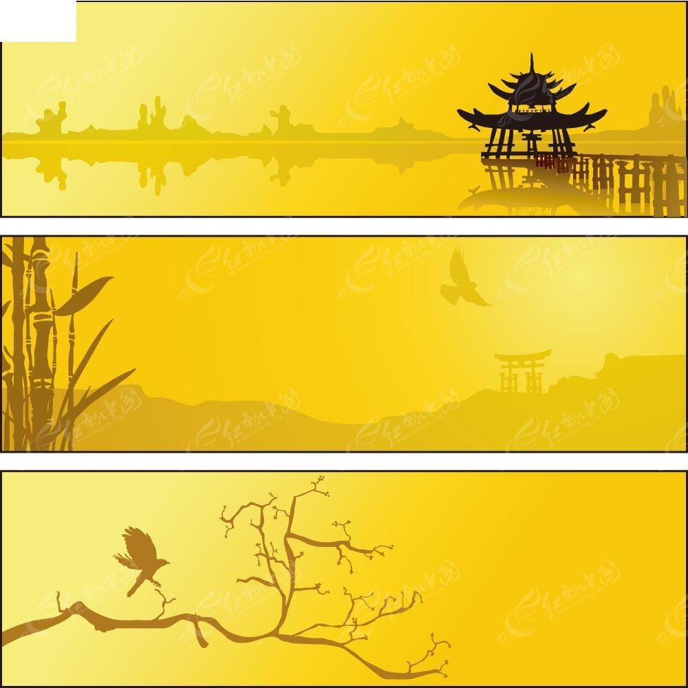 中国风边框卡片矢量背景