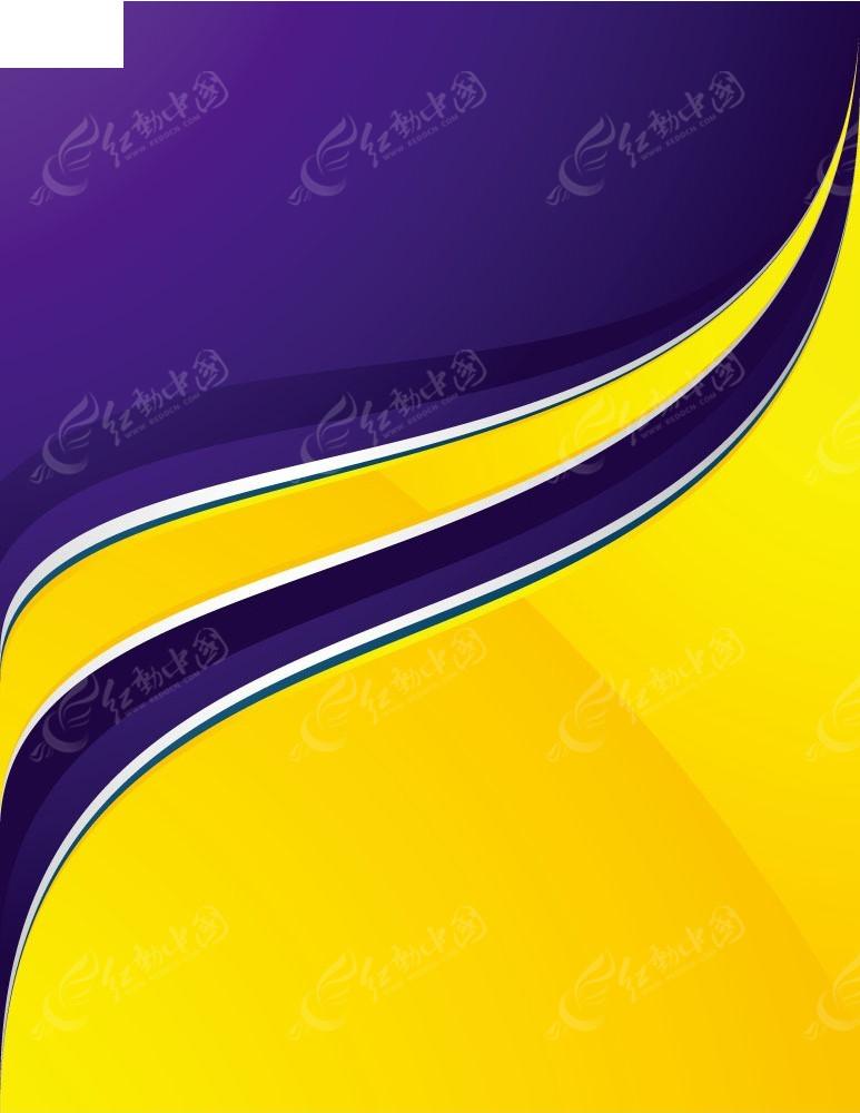 huangsedonggantupian_紫蓝色动感线条黄色背景图片