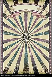 淡紫色五角星边框光束矢量背景