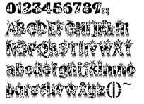 花草装饰粗体字