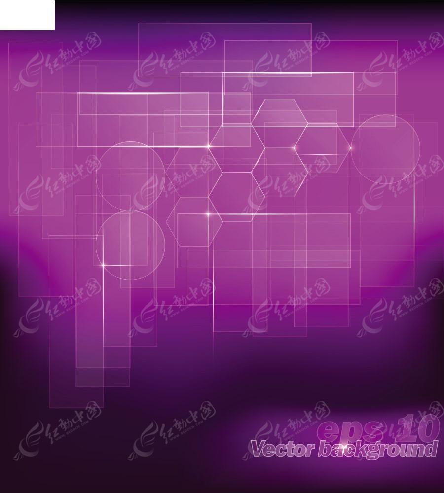 紫色几何图形矢量背景EPS素材免费下载 编号3922082 红动网