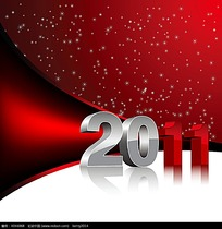 红色星点背景立体字2011字体
