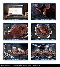 创意章鱼笔记本广告视频