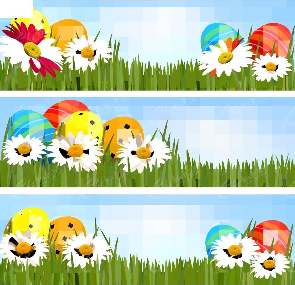 手绘春季边框图形背景