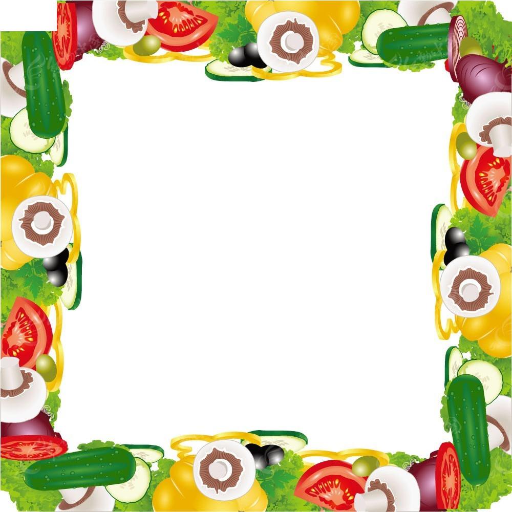 蔬菜边框背景素材