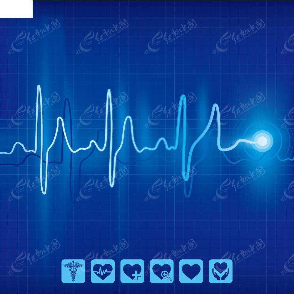 心电图背景素材