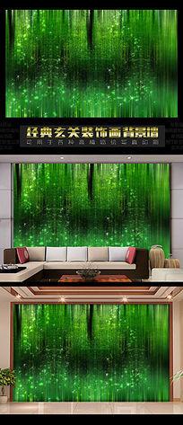 3D背景墙之迷幻绿色森林