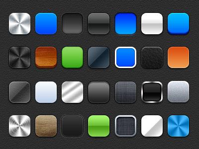 多质感圆角矩形模板app图标
