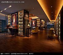 酒吧咖啡厅效果图片