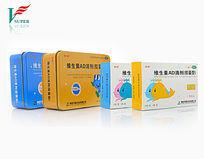 维生素AD滴剂盒装罐装摄影