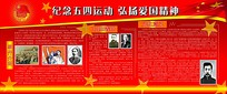 五四运动红色历史人物展板