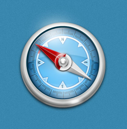 圆形仿真指南针手机app图标图片