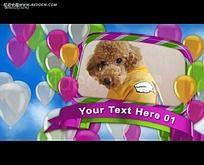 彩色气球背景相册视频