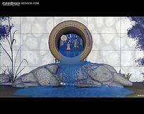3D网格建模背景视频