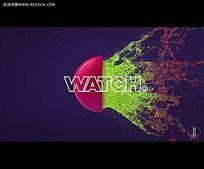 彩色液体飞溅广告视频