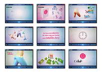 创意彩色动画广告视频