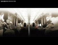 卡通地铁动画视频